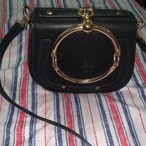 Black and Gold Ring bag